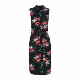 Tropical Floral Shirt Dress