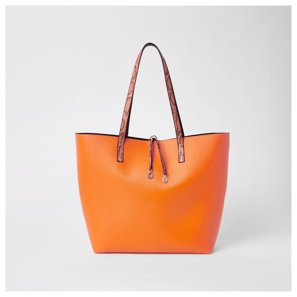 Womens Neon orange beach bag