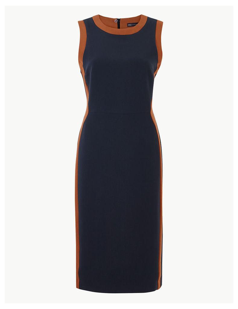 M&S Collection Colour Block Side Stripe Bodycon Midi Dress