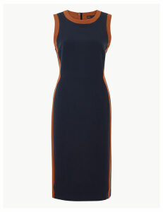 M&S Collection Colour Block Side Stripe Bodycon Midi Dress