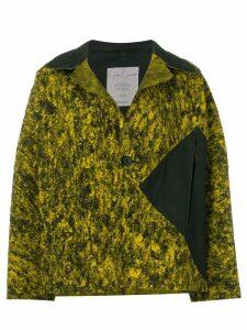 Yohji Yamamoto Pre-Owned abstract pattern boxy jacket - Yellow