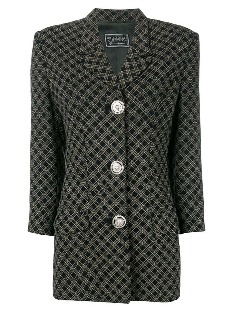 Versus Vintage 1990's tartan blazer - Black