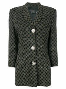 Versus Pre-Owned 1990's tartan blazer - Black
