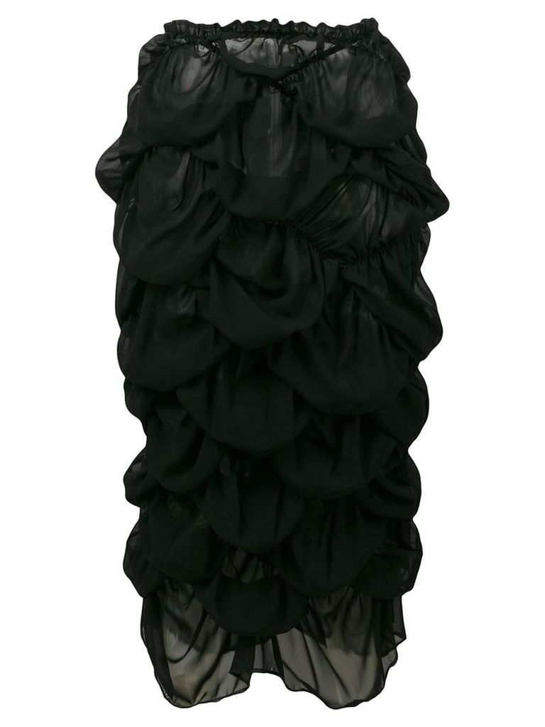 Comme Des Garçons Vintage ruffled skirt - Black