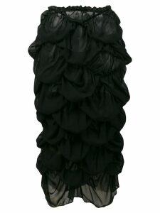Comme Des Garçons Pre-Owned ruffled skirt - Black