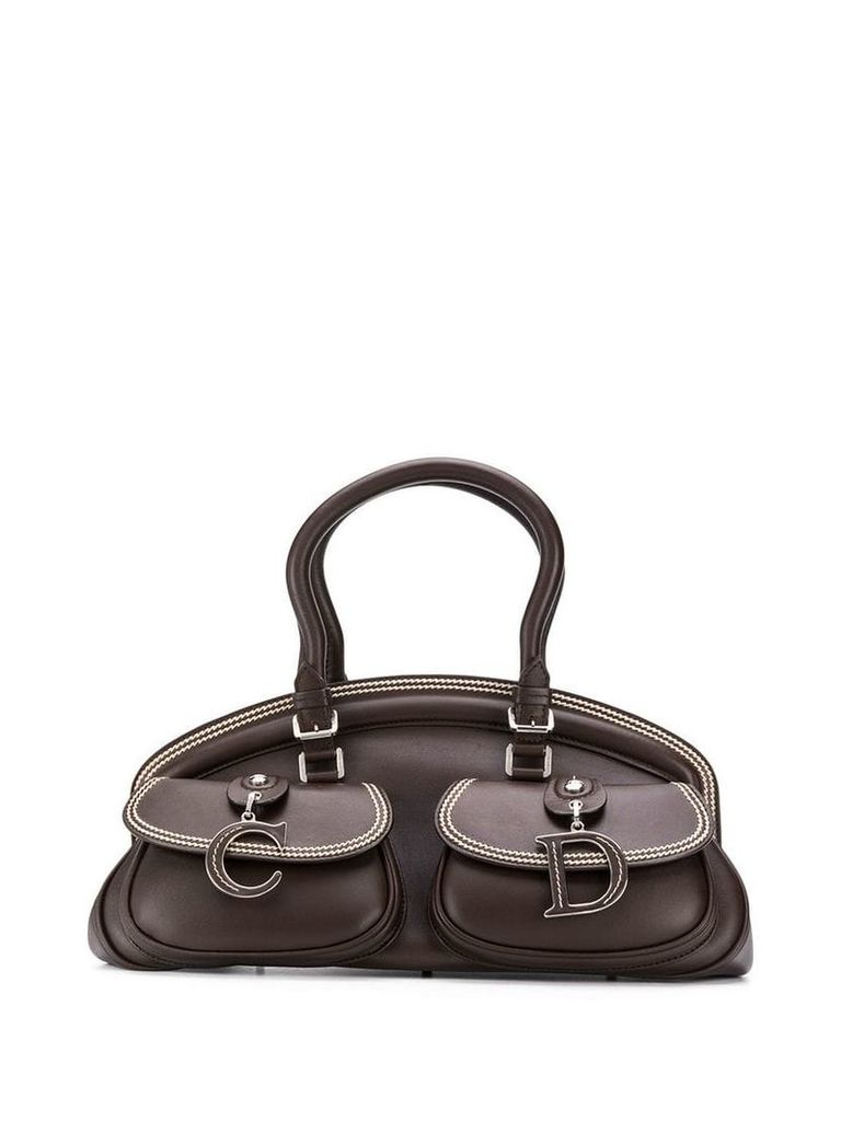 Christian Dior Vintage 2000's contrast-stitch bag - Brown
