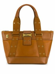 Christian Dior Pre-Owned 2000's eyelet-embellished tote - Brown