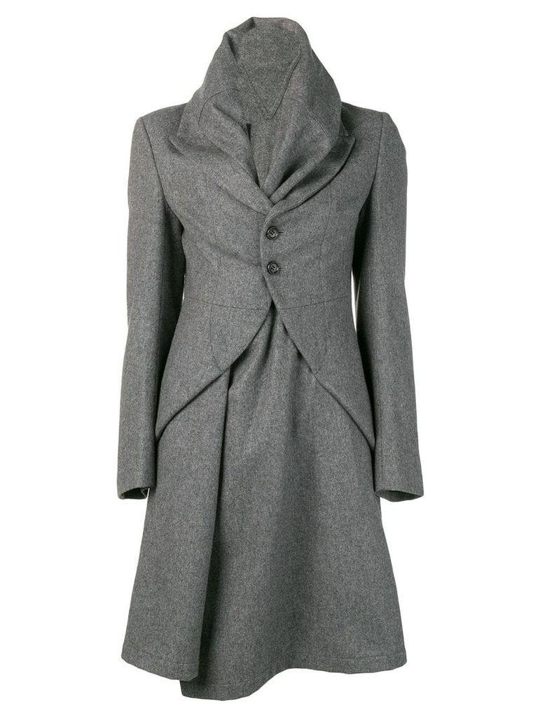 Comme Des Garçons Vintage funnel collar coat - Grey
