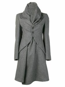 Comme Des Garçons Pre-Owned funnel collar coat - Grey