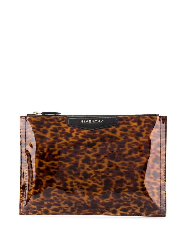 Givenchy Vintage 2000's animal-print clutch - Brown
