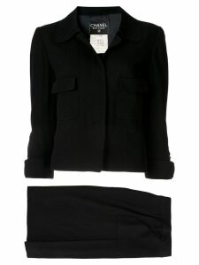 Chanel Pre-Owned CC setup suit jacket skirt - Black