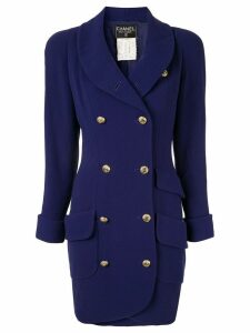 Chanel Pre-Owned CC logos button long sleeve jacket - Purple
