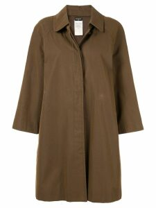 Chanel Pre-Owned Long Sleeve Coat Jacket - Brown