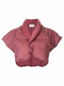Céline Pre-Owned cropped textured jacket - Pink