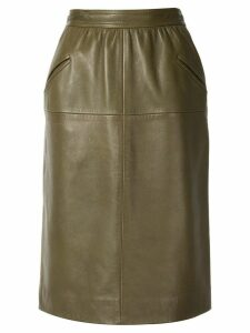 Loewe Pre-Owned high waisted straight skirt - Green
