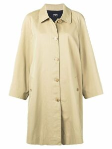 CHANEL PRE-OWNED 1990's trench coat - Brown