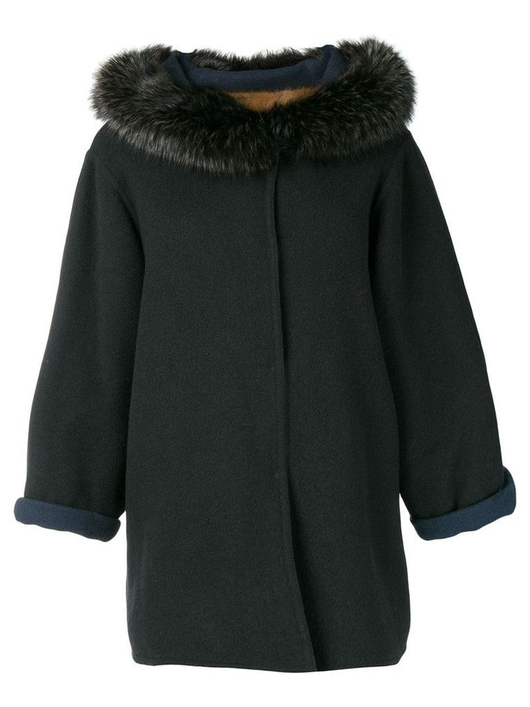 A.N.G.E.L.O. Vintage Cult 1980's fur trim coat - Blue
