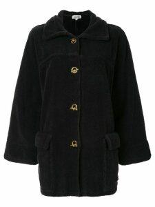 Hermès Pre-Owned HERMES Long Sleeve Coat - Black