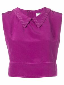 Chanel Pre-Owned 2001's collared crop top - Purple