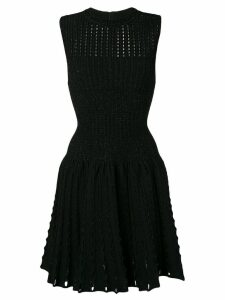 ALAÏA PRE-OWNED 2000's woven skater dress - Black