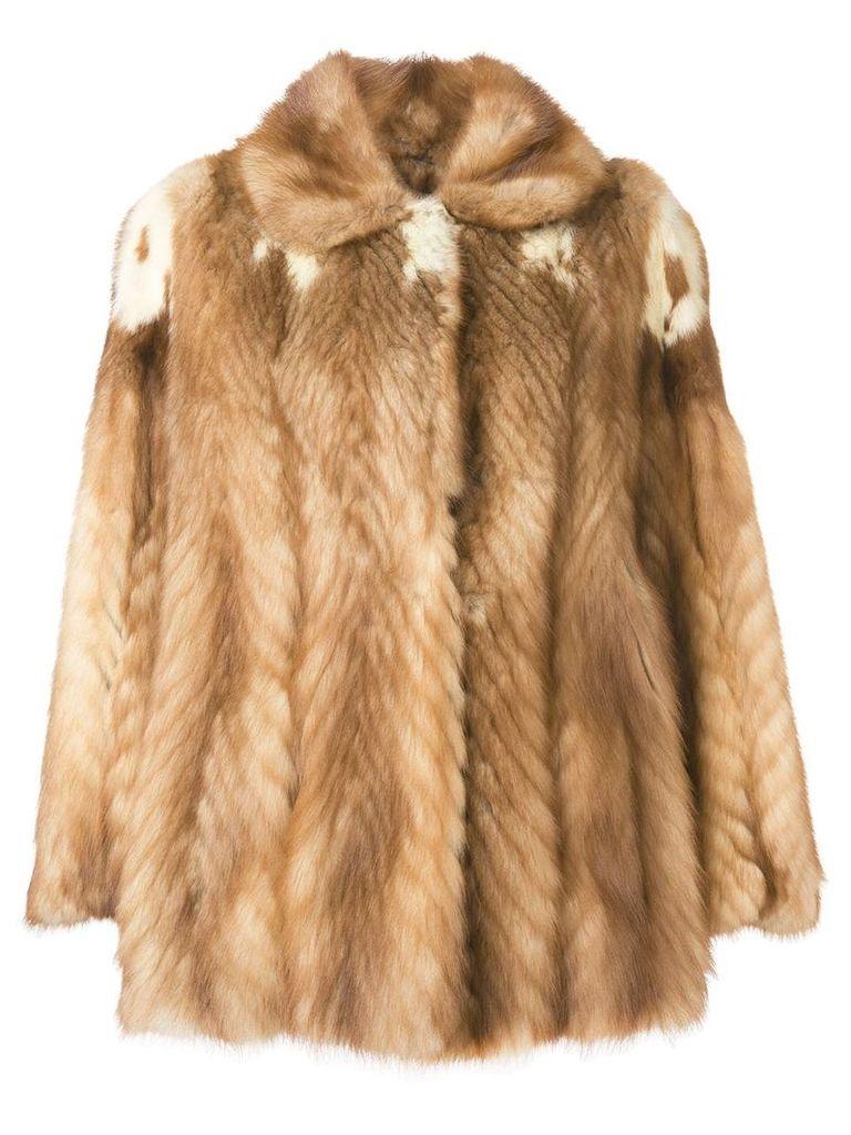A.N.G.E.L.O. Vintage Cult 1970'S fur coat - NEUTRALS