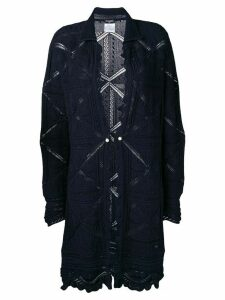Chanel Pre-Owned 2004 cardigan coat - Blue