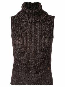 Chanel Pre-Owned knitted sleeveless top - Brown