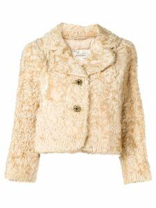 A.N.G.E.L.O. Vintage Cult 1950's cropped fur jacket - Neutrals