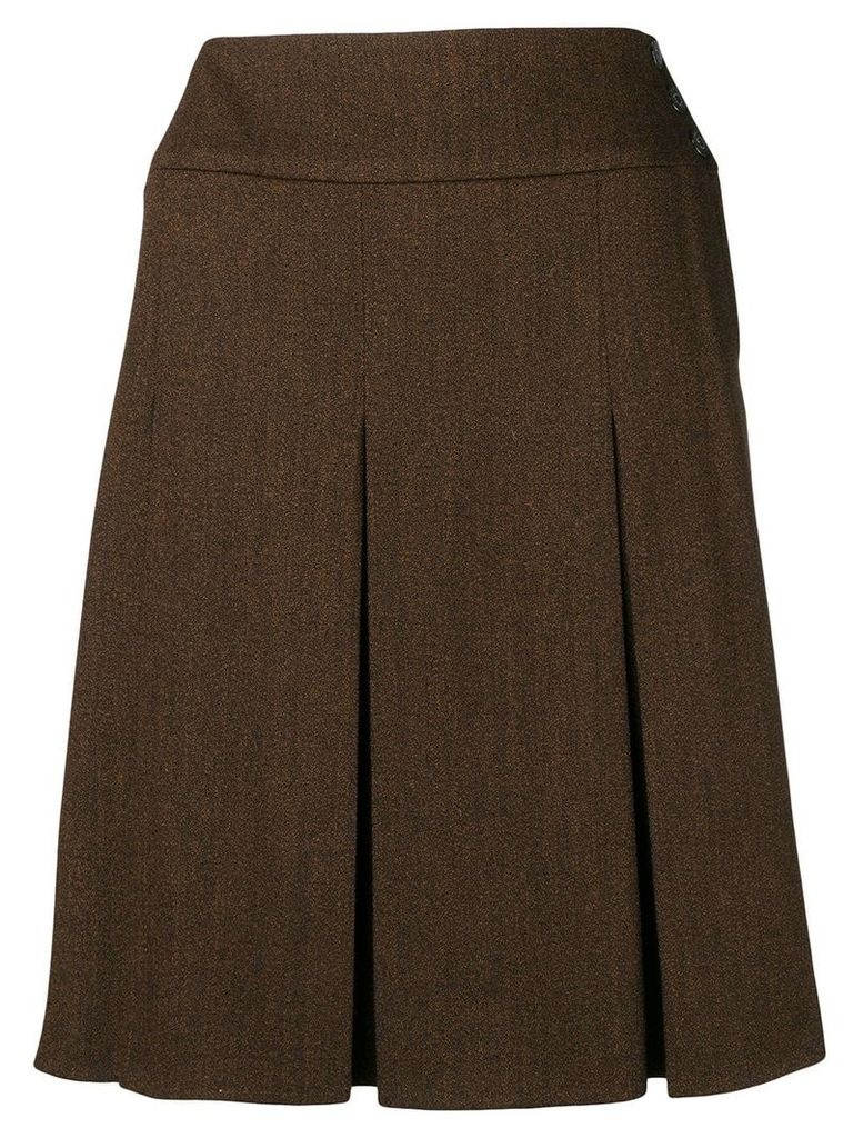 Chanel Vintage 1997's pleated skirt - Brown