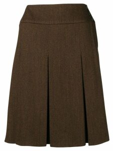 CHANEL PRE-OWNED 1997's pleated skirt - Brown