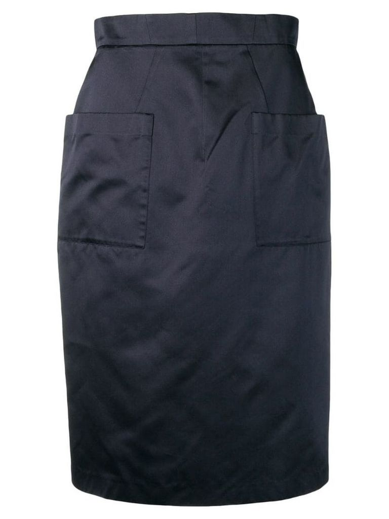 Prada Pre-Owned 1990's pocket pencil skirt - Blue