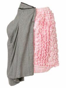 Comme Des Garçons Pre-Owned asymmetric panelled mini skirt - Pink