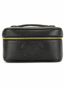 Chanel Pre-Owned CC stitch cosmetic bag - Black