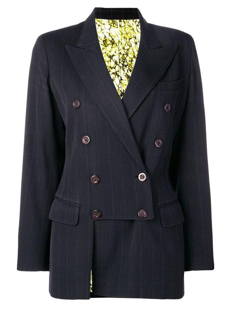 Jean Paul Gaultier Pre-Owned 1990's pinstripe blazer - Black