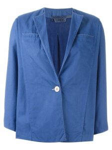 Gianfranco Ferre Pre-Owned single button jacket - Blue