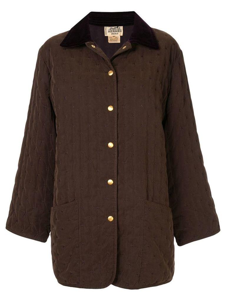 Hermès Vintage Long Sleeve Coat - Brown