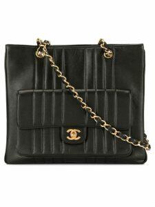 Chanel Pre-Owned Mademoiselle stitch shoulder bag - Black