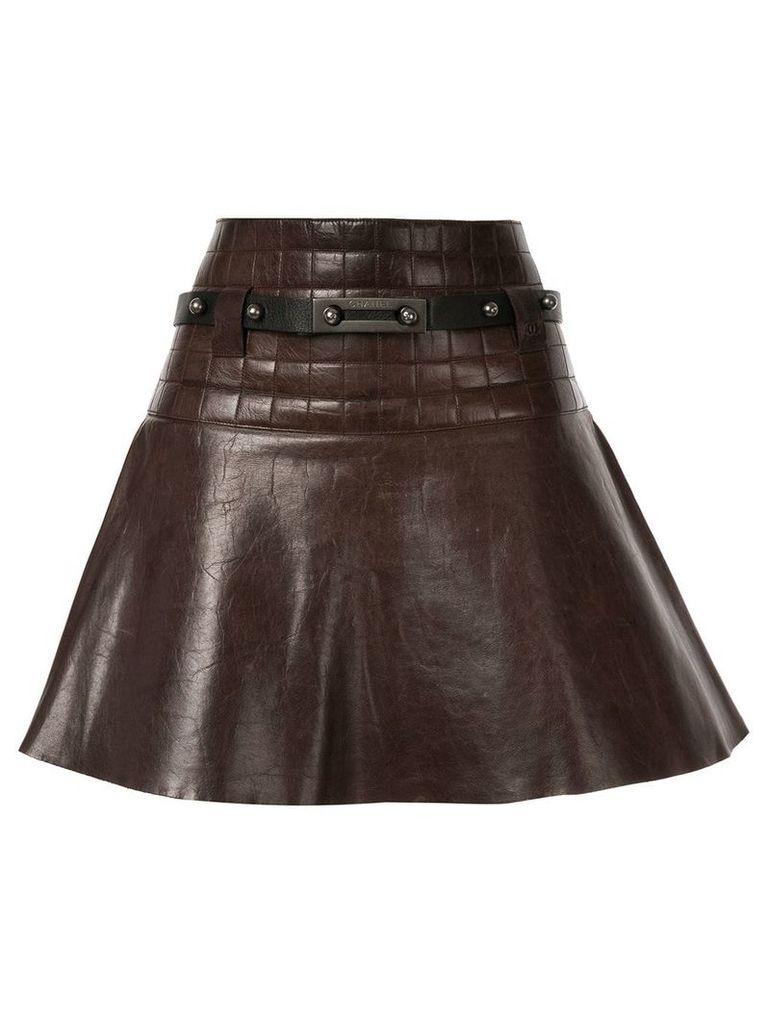 Chanel Vintage CC Logos Skirt - Brown