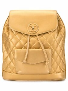 Chanel Pre-Owned circle turn-lock backpack - Gold