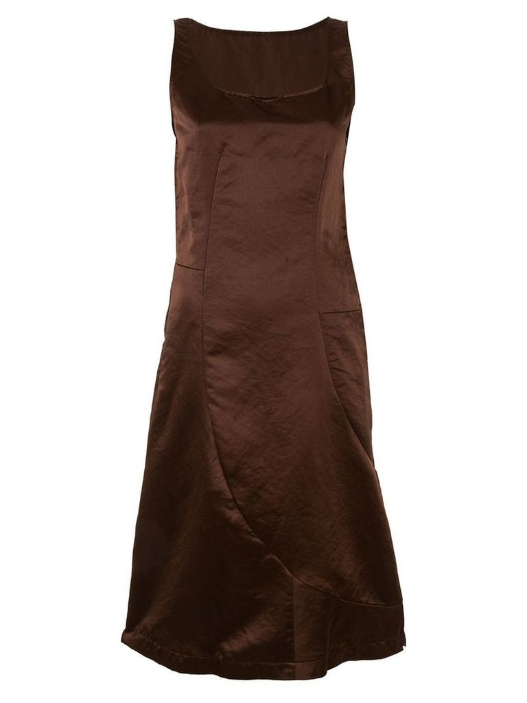 Comme Des Garçons Vintage crinkle-effect midi dress - Brown