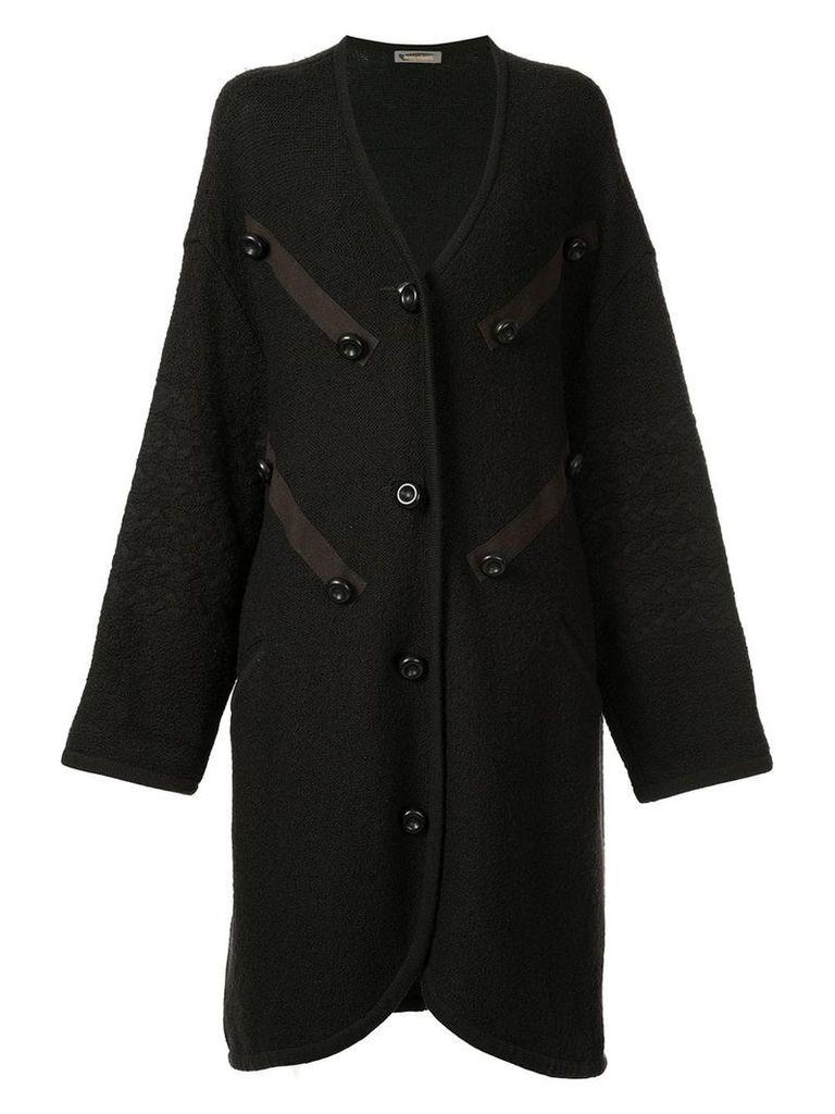 Issey Miyake Vintage button-embellished coat - Brown