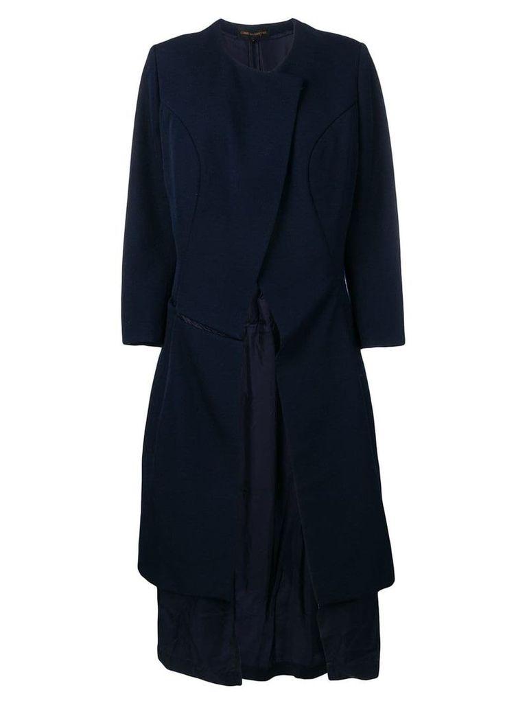 Comme Des Garçons Vintage deconstructed back coat - Blue