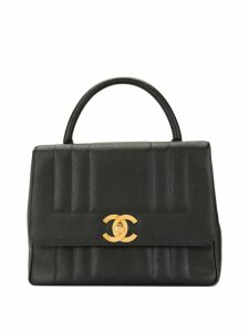 Chanel Pre-Owned caviar skin Mademoiselle stitch handbag - Black