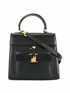 Salvatore Ferragamo Pre-Owned Vara ribbon metal clasp 2way bag - Blue