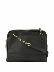 Chanel Pre-Owned Caviar Skin 8 CC Mark Stitch Tote Bag - Black