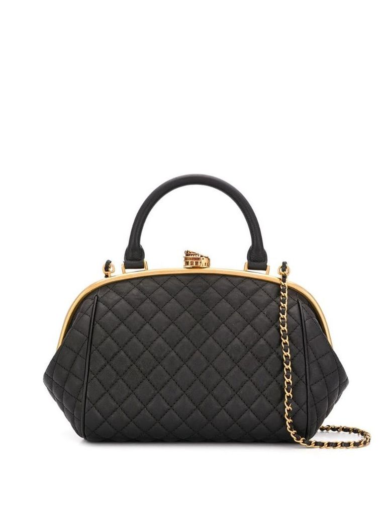 Chanel Vintage quilted effect tote bag - Black