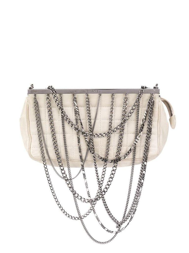 Chanel Vintage chain embellished tote bag - Neutrals