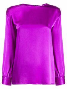 Yves Saint Laurent Vintage 1980's relaxed-fit blouse - Purple