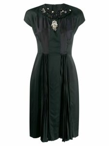 Prada Pre-Owned 2000's embellished pleated dress - Black