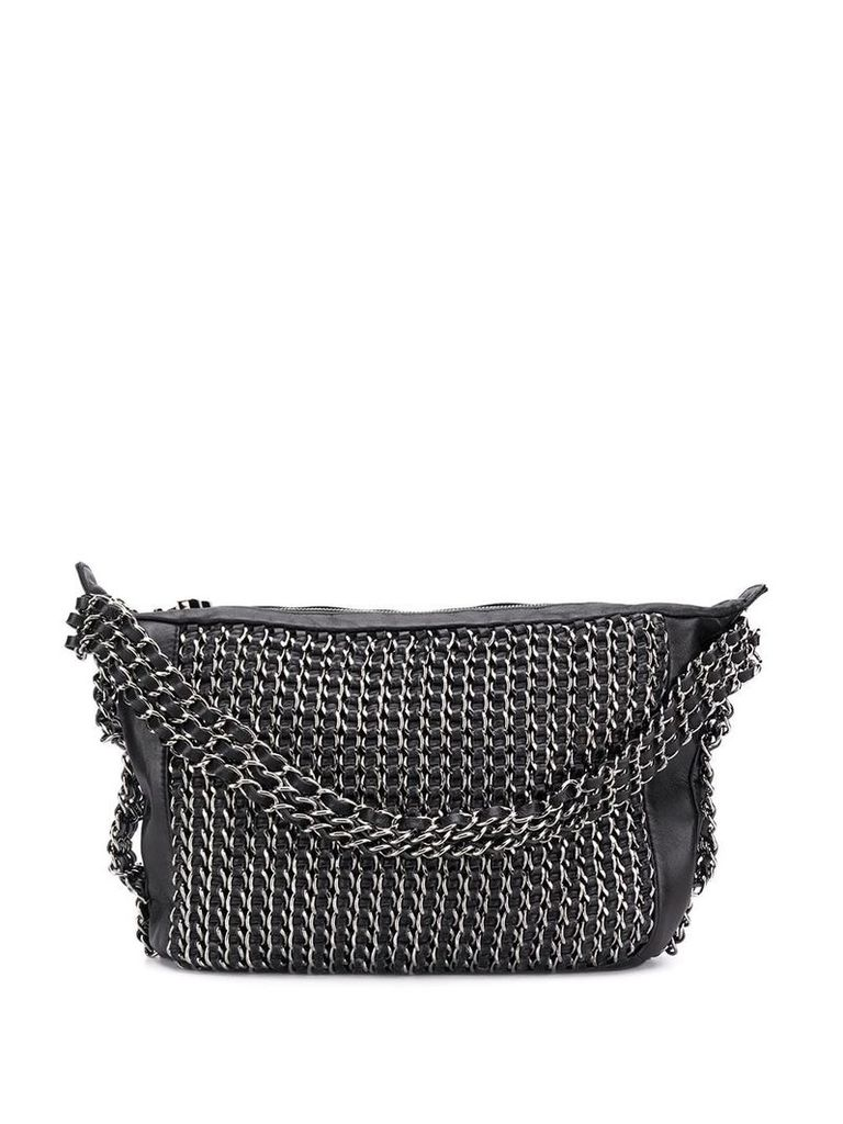 Chanel Vintage all-over chain embellished tote bag - Black